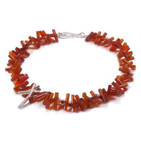 Carnelian rhapsody necklace
