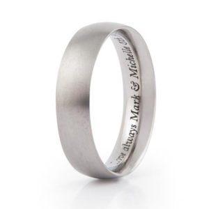 Engraving in wedding ring