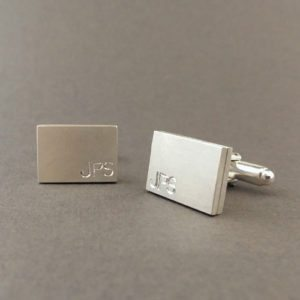 Cufflinks with Initials Engraving