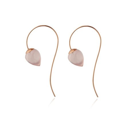 Nuppu earrings with rose quartz