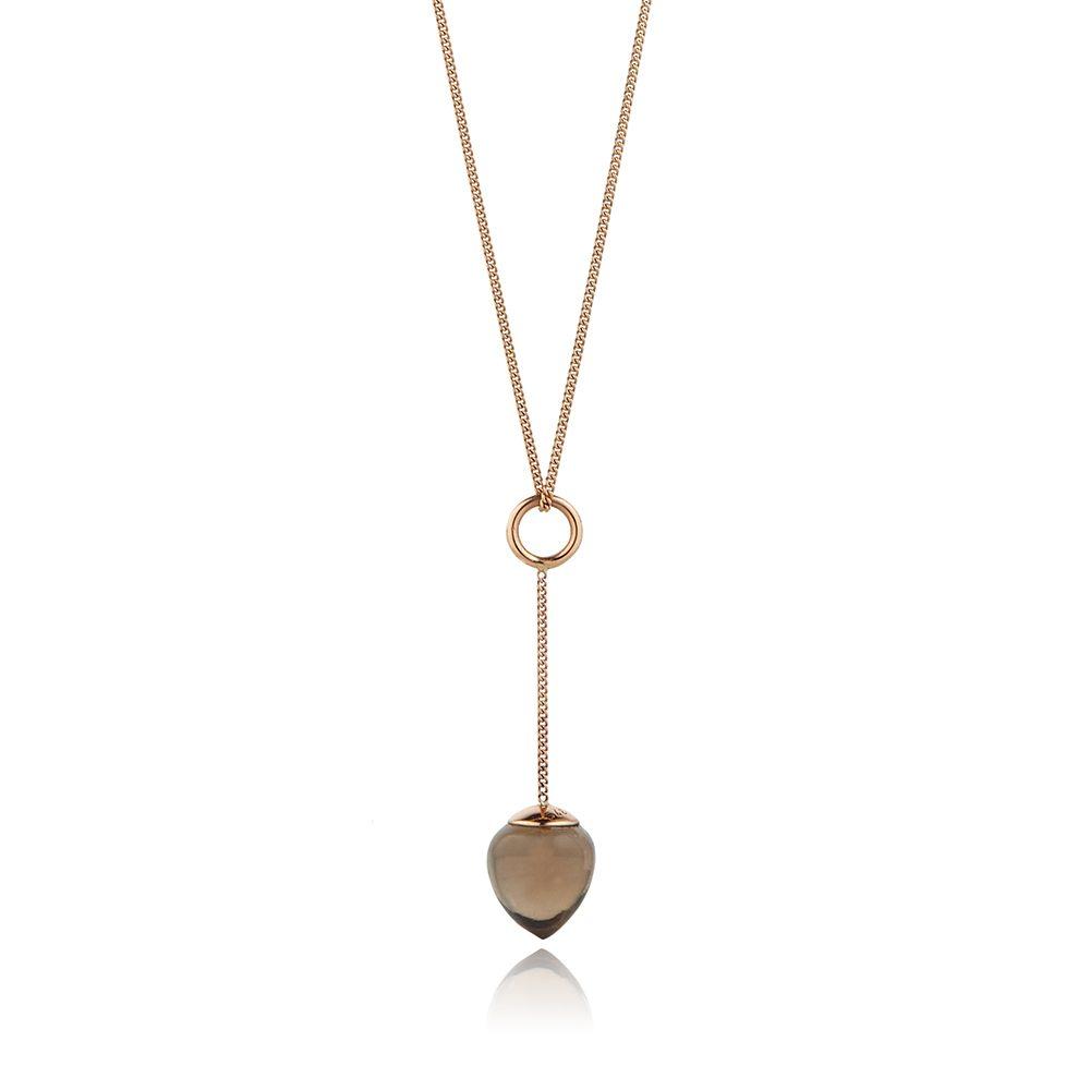 Nuppu pendant with smoky quartz