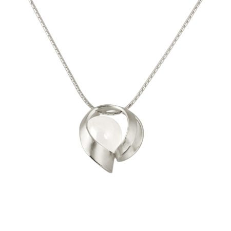 Silver and quartz pendant