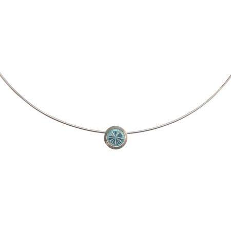 Cocktail pendant - blue topaz - detail