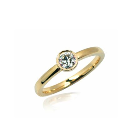 Diamond antique stockholm ring