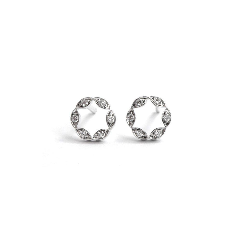 Diamond juliet earrings