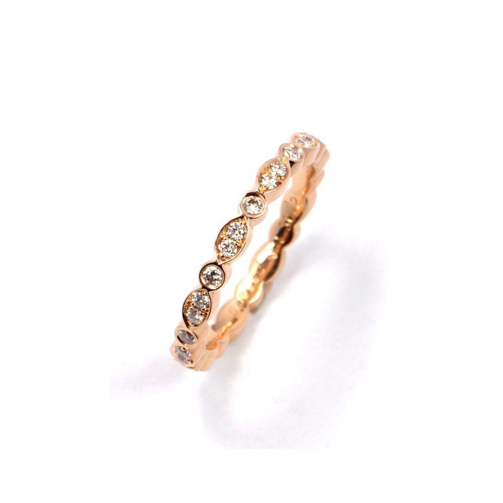 Diamond juliet ring rose gold