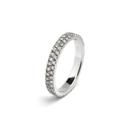 Double row diamond band