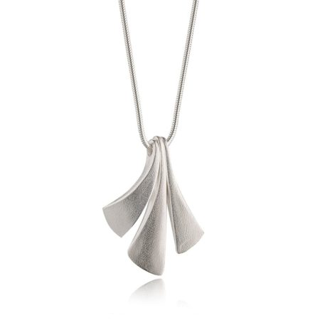 Flow silver large pendant