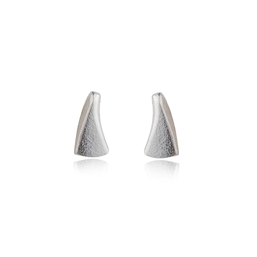 Flow silver small earrings