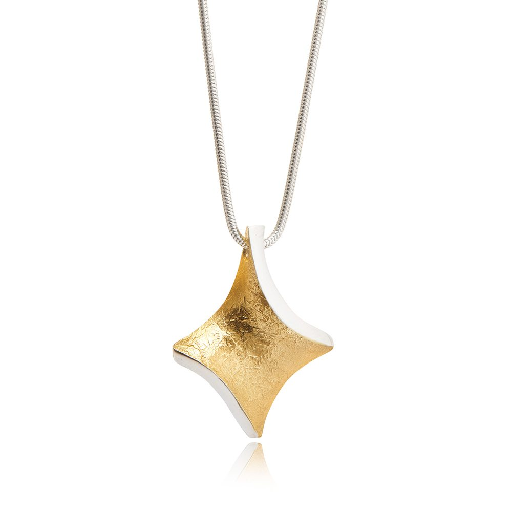 Golden-twist-small-pendant