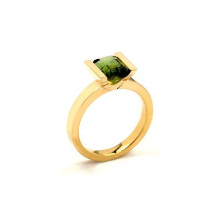 Green tourmaline lika ring 2