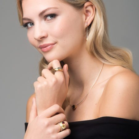 Infinity ring - silver and gold Cocktail rings