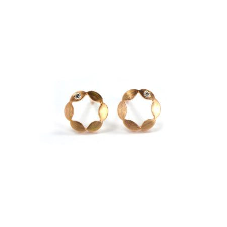 Juliet earrings single diamond rose gold