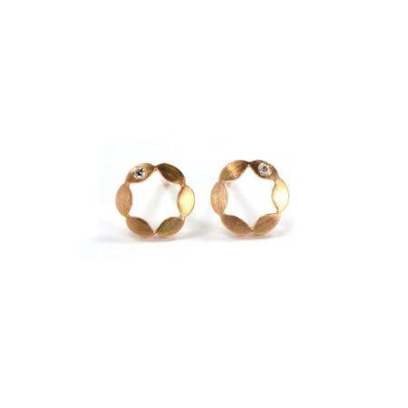 Juliet earrings single diamond rose gold