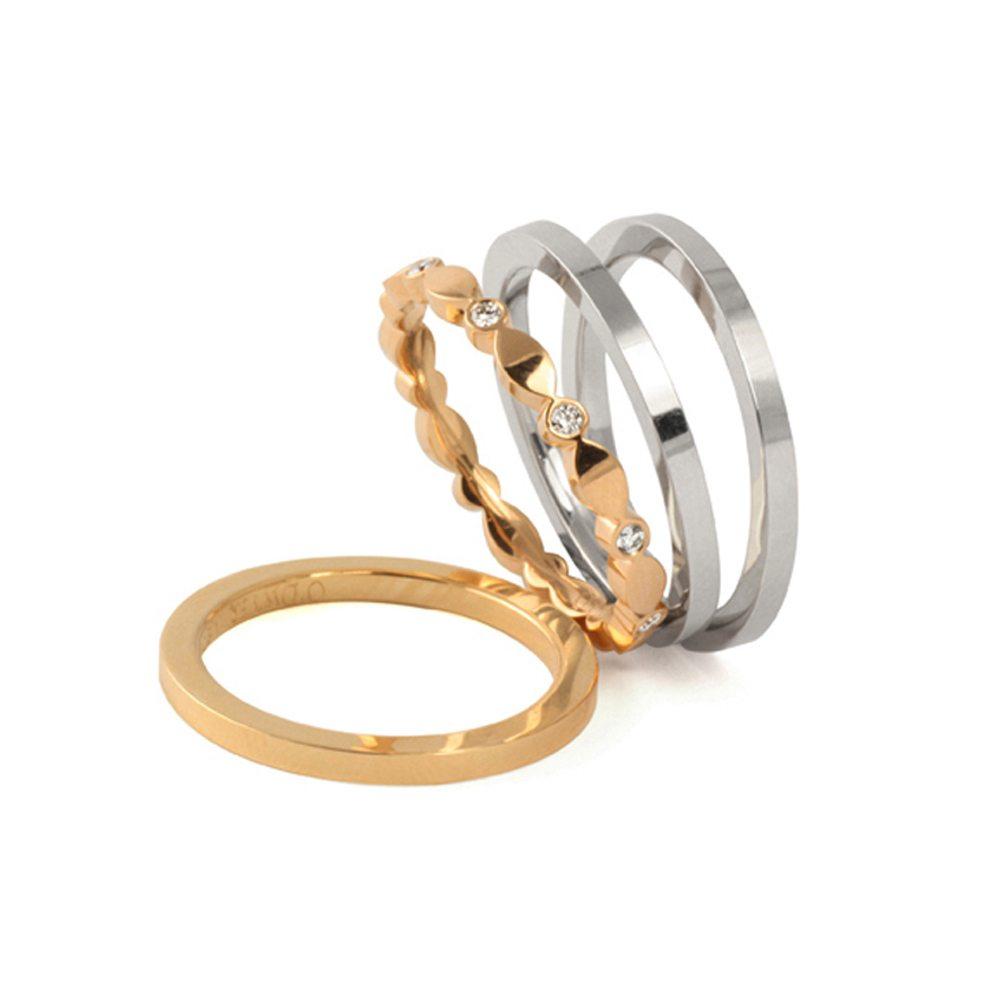 Juliet plain and diamond bands