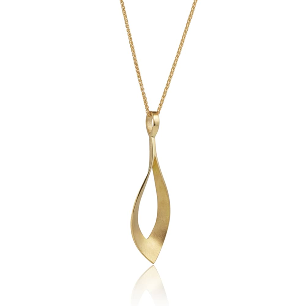 Gold dancing flame pendant