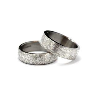 Mokume gane rings