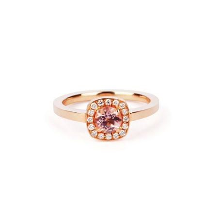 Morganite emelie ring