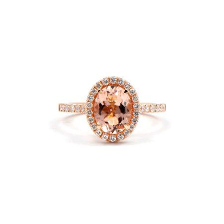 Morganite montana engagement ring diamond pave 2