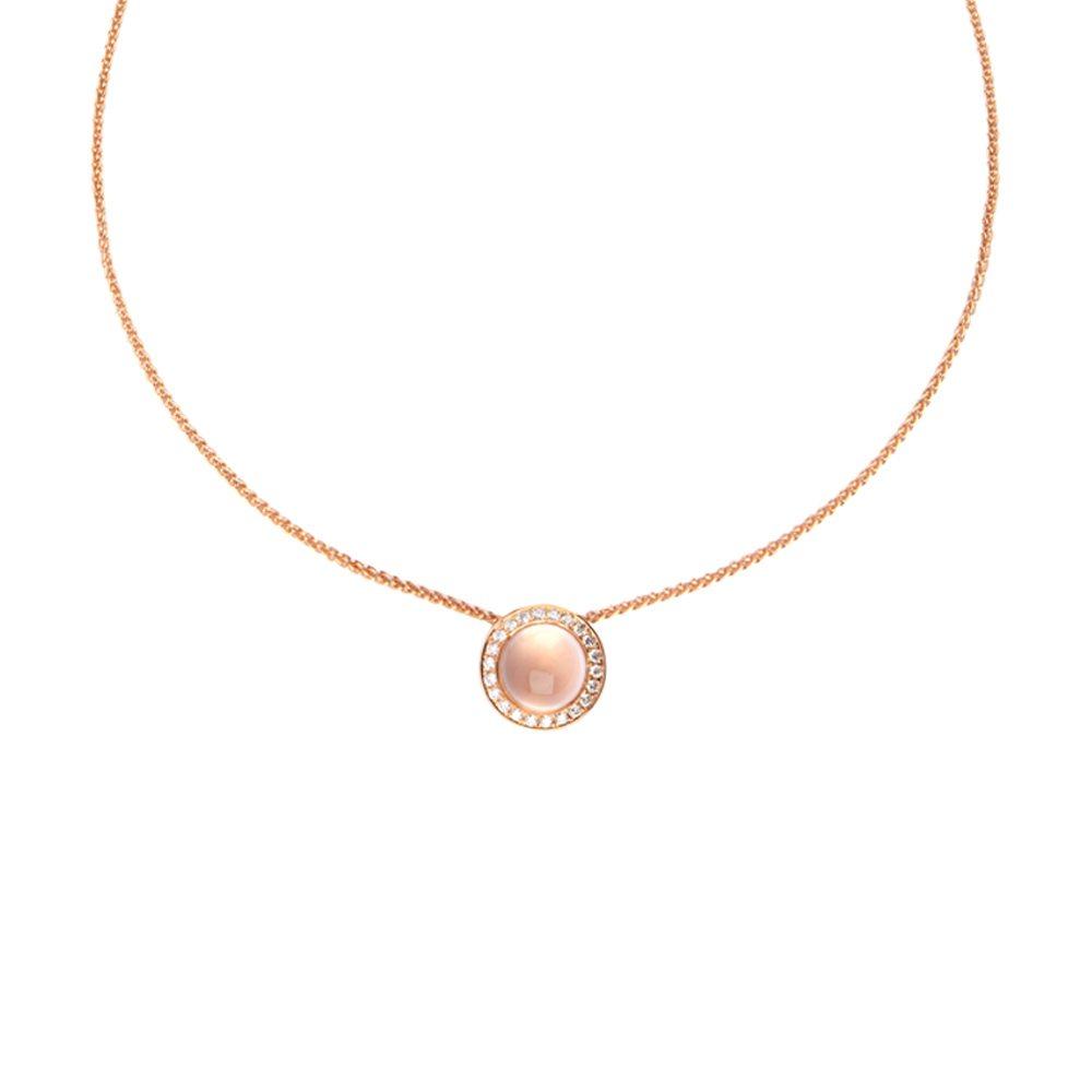 Rose quartz nectar pendant