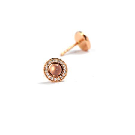 Rose quartz nectar stud earrings