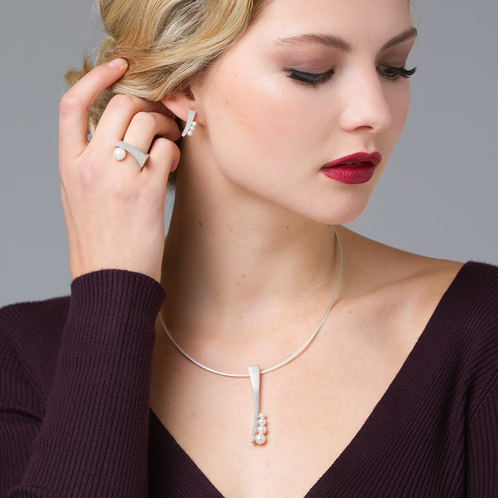 Silver balance pearl jewellery collection 2