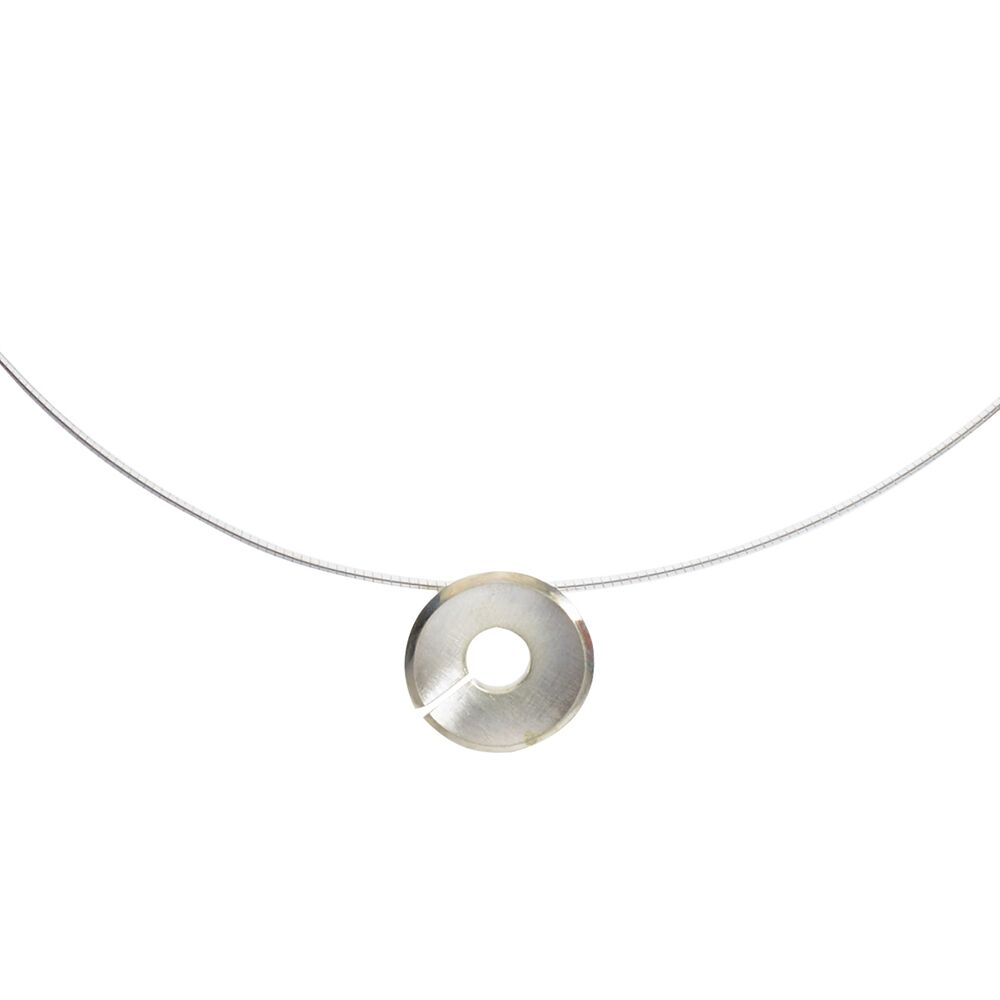 Small Torc Pendant - Silver - Detail