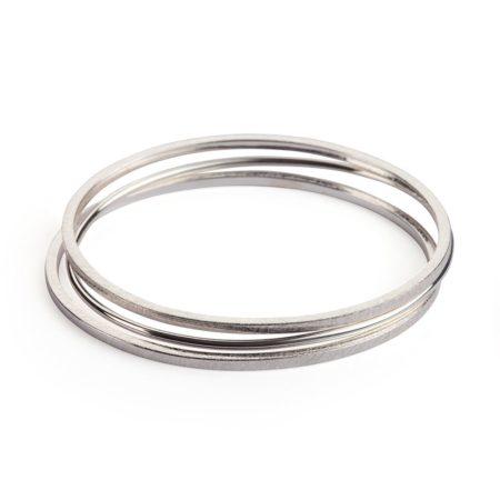 Stacking bangles - silver