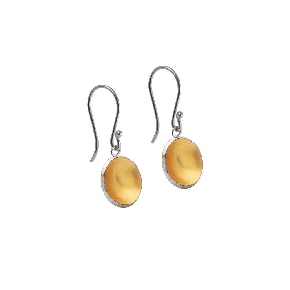 Torc earrings - drop gold