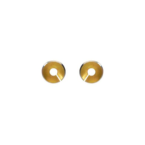 Torc earrings - small stud gold