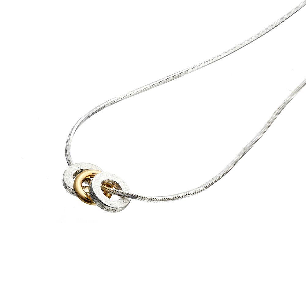 Trio pendant - 1 yellow gold hoop - detail