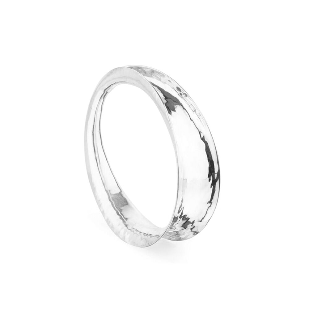 Twist-silver-oval-bangle