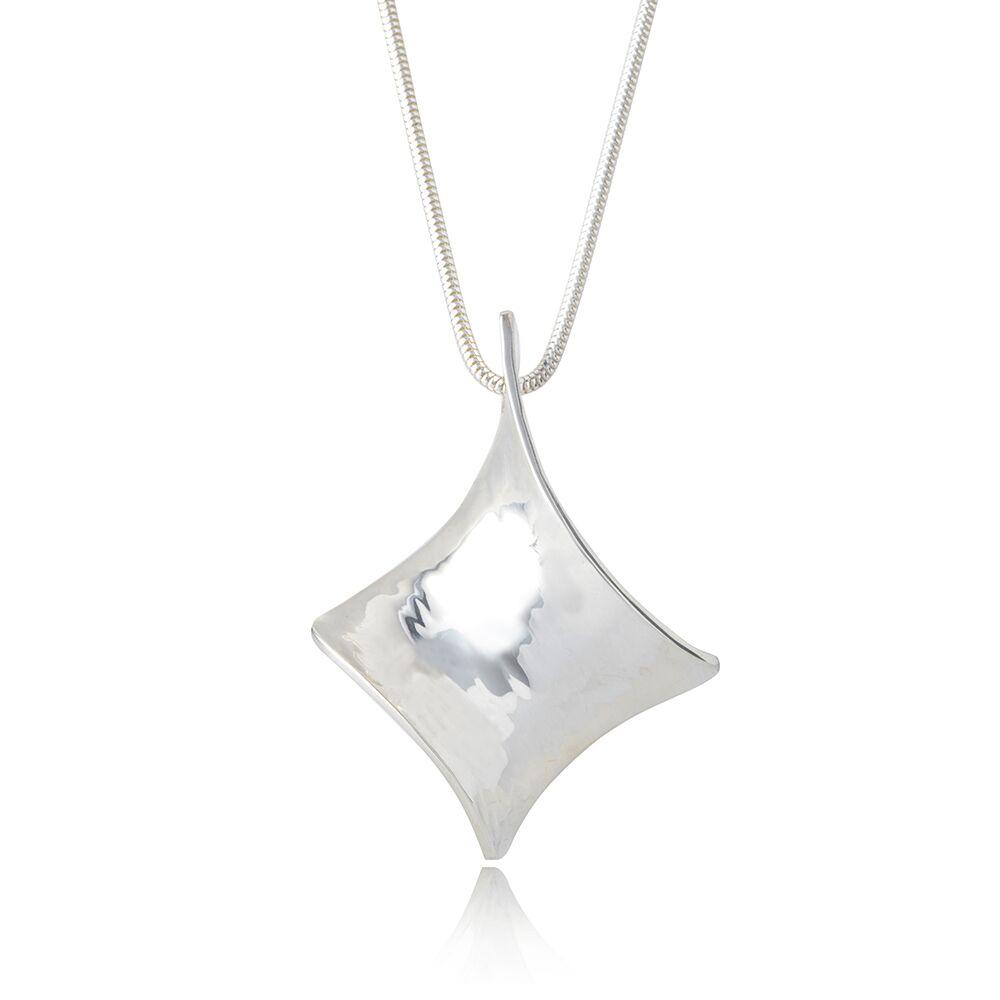 Twist silver pendant