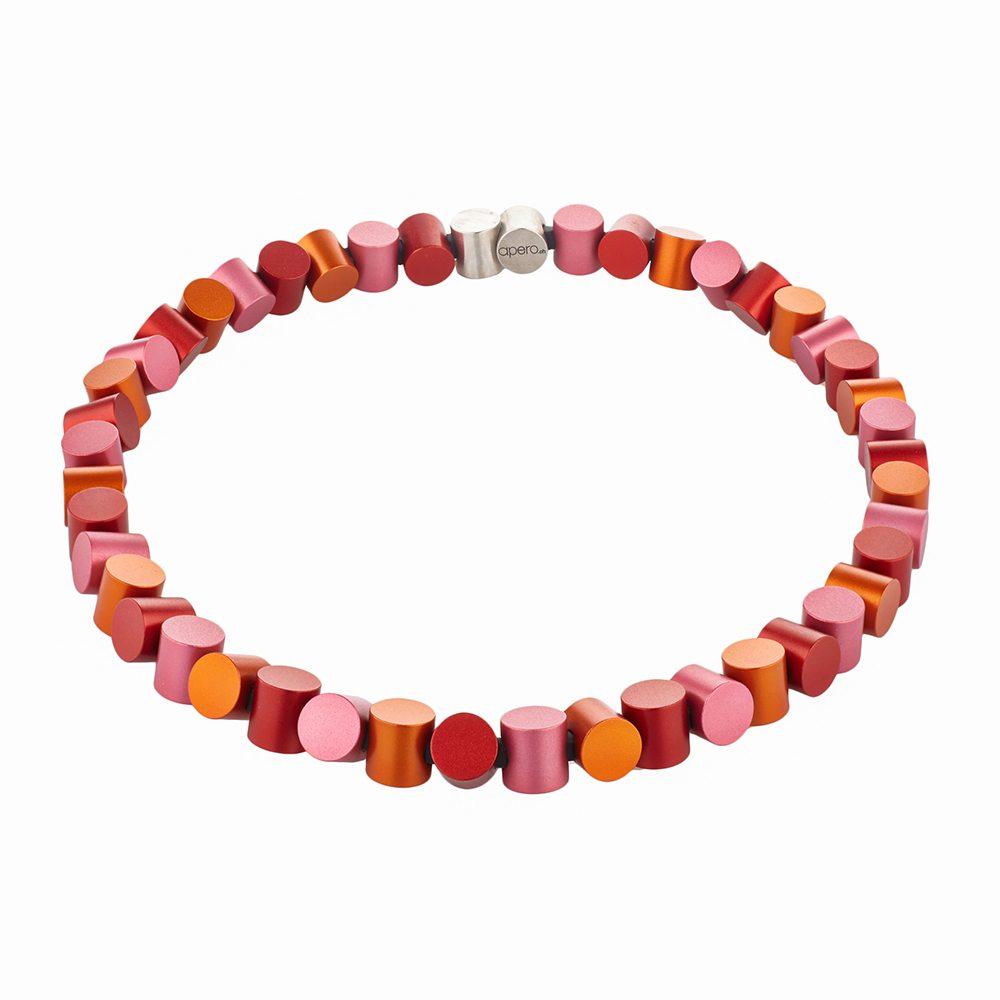 Cylinder neckpiece - blush, orange, red