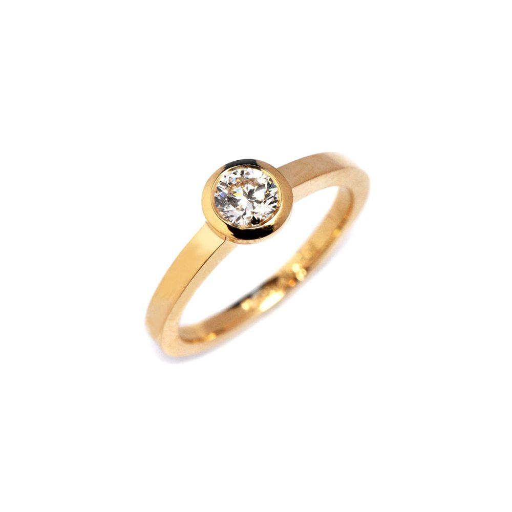 Diamond stockholm ring yellow gold