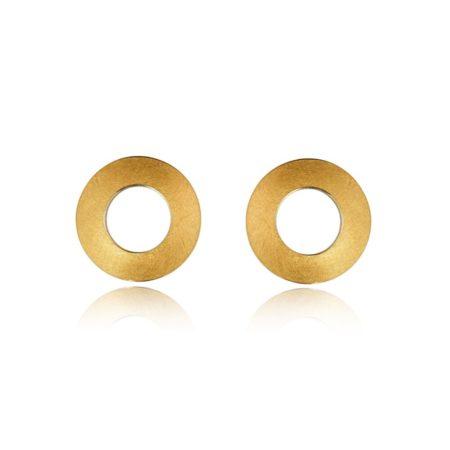 Fine gold disc earrings (1)