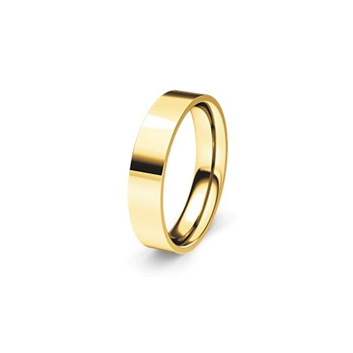 Flat yellow gold band