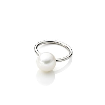 Large pearl ring - steel