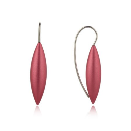 Large tulip earrings - blush