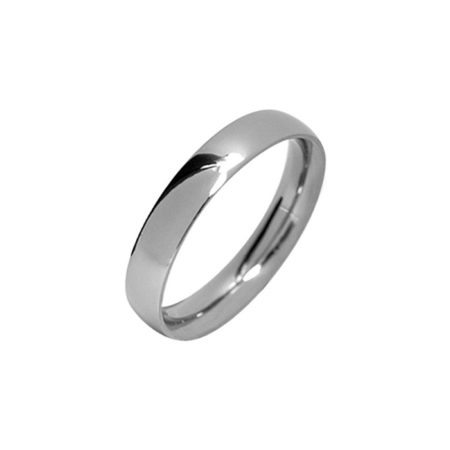 Narrow polished titanium men's wedding ring