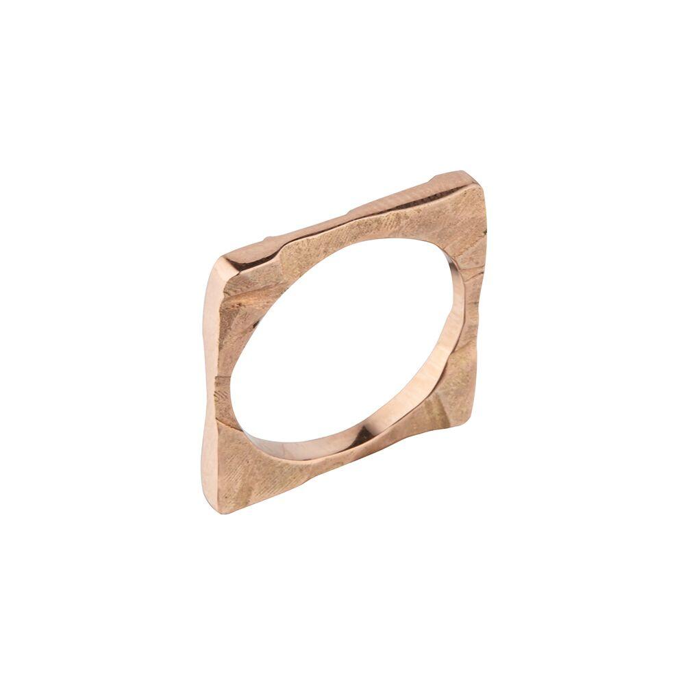 Square shard ring rose gold