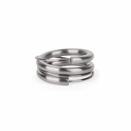 Steel wrap around stacking ring