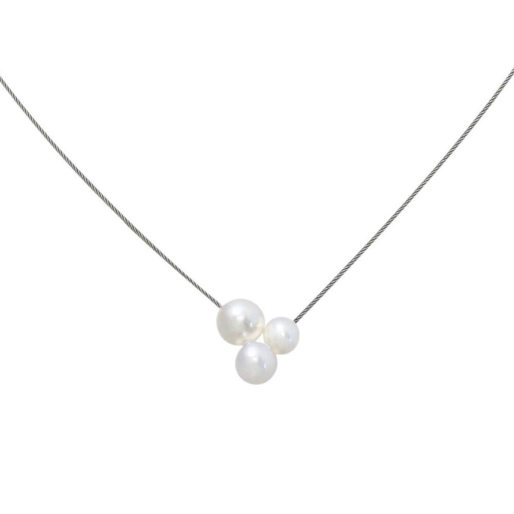 Triplet pearl and steel neckwire 2