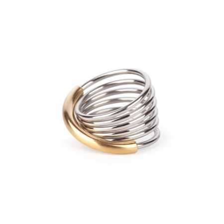 Two-tone infinity ring