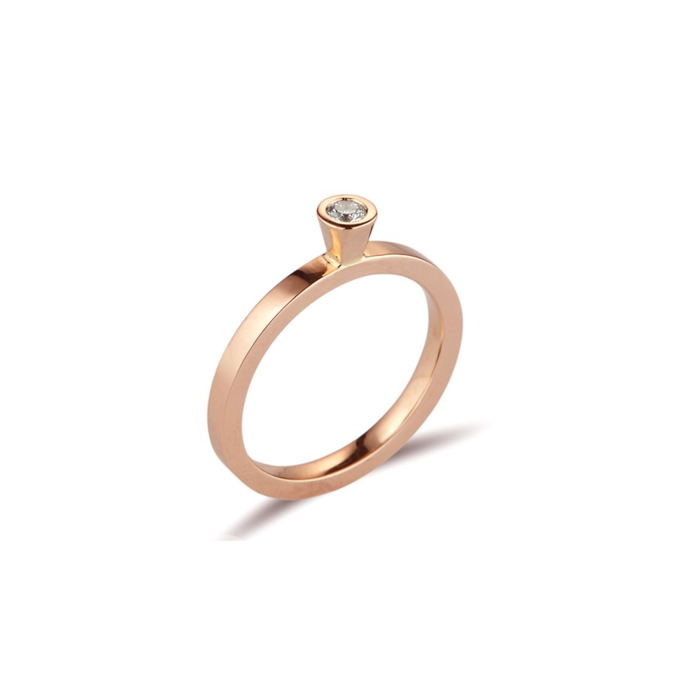 Aurora rose gold diamond stacking ring - 0.08ct