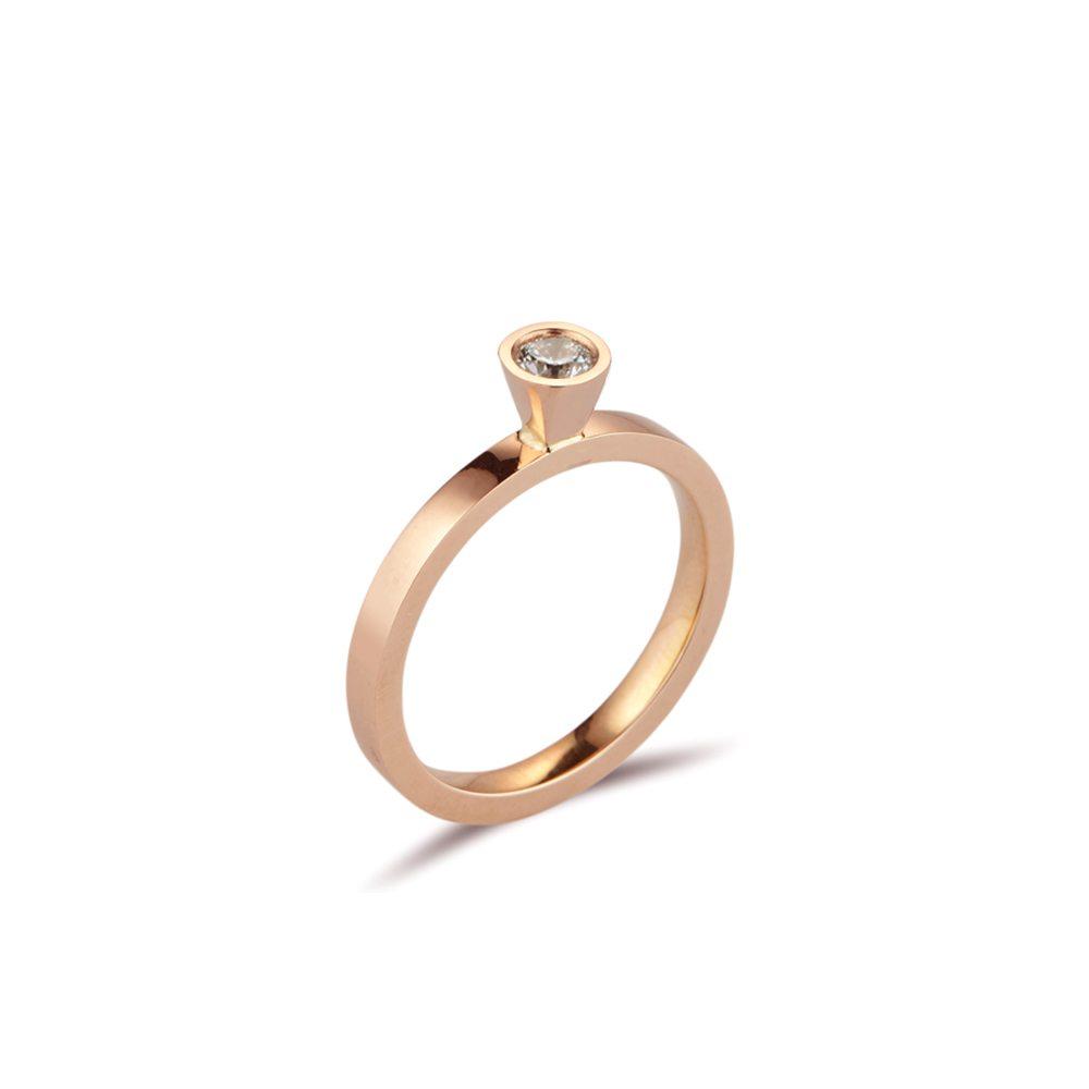 Aurora rose gold diamond stacking ring - 0.25ct