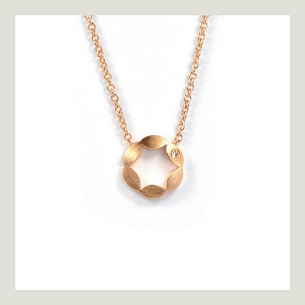 Juliet rose gold diamond Pendant