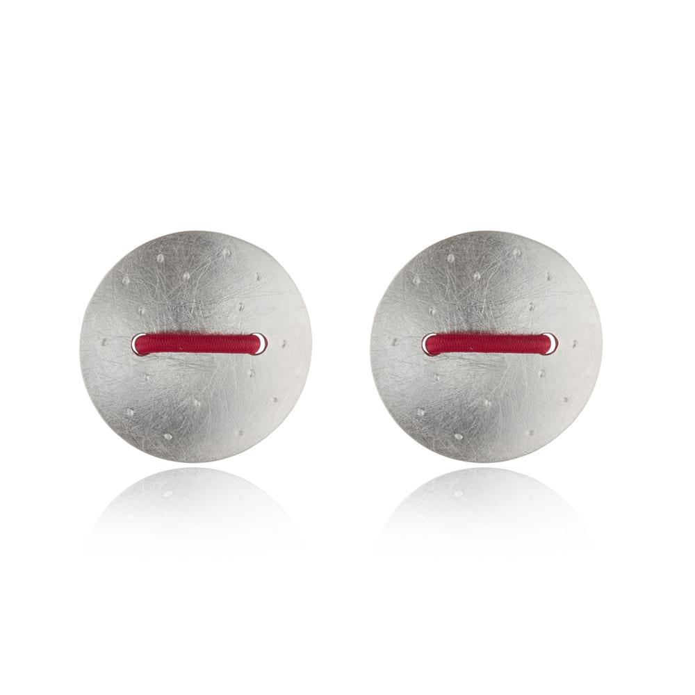 Cerise Stitch Earrings