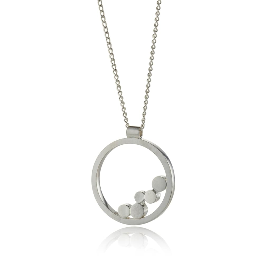 Silver stepping stones pendant