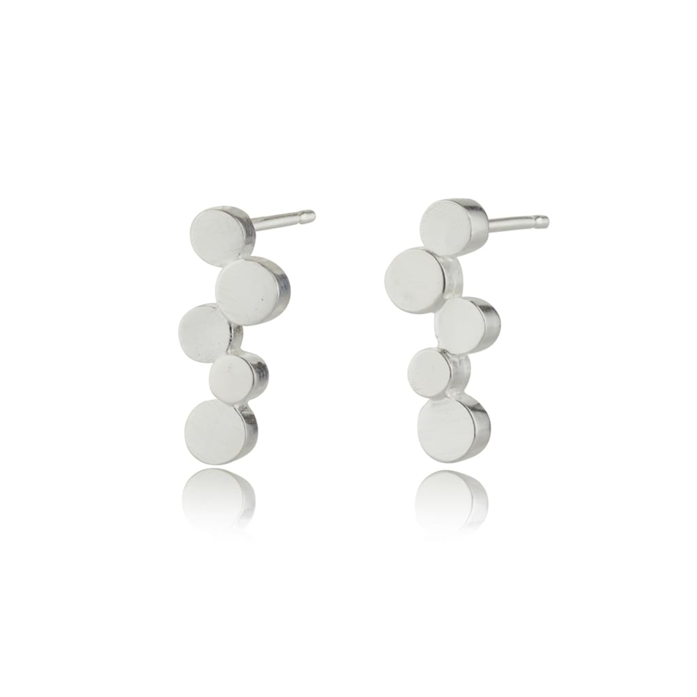 Stepping stones silver small studs